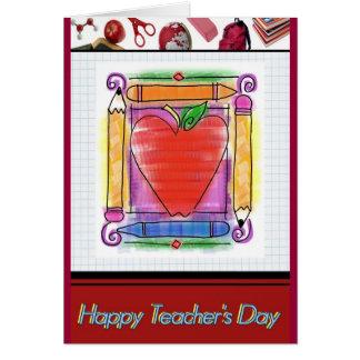 Tarjeta de felicitación del día del profesor 1