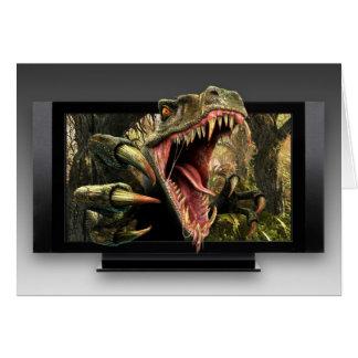 Tarjeta de felicitación del dinosaurio TVAD