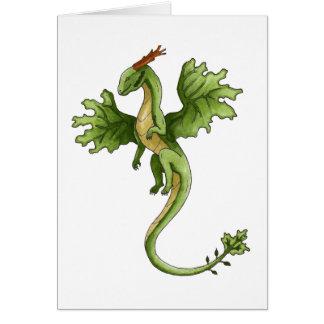 Tarjeta de felicitación del dragón del bosque