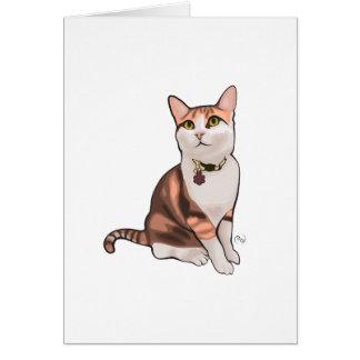 Tarjeta de felicitación del ejemplo del gato