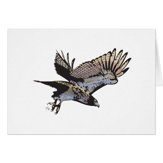 Tarjeta de felicitación del ejemplo del halcón del