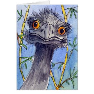 Tarjeta de felicitación del Emu, apenas para la