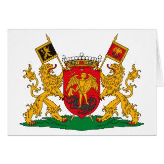Tarjeta de felicitación del escudo de armas de