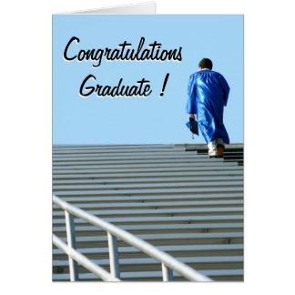 Tarjeta de felicitación del éxito de la graduación