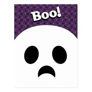 Tarjeta de felicitación del fantasma de Halloween Postal