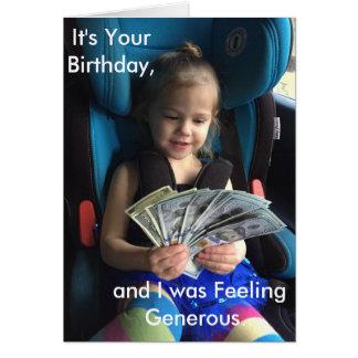 Tarjeta de felicitación del feliz cumpleaños,