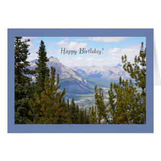 Tarjeta de felicitación del feliz cumpleaños con