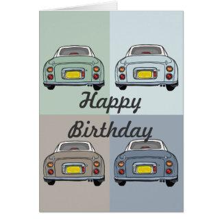Tarjeta de felicitación del feliz cumpleaños de