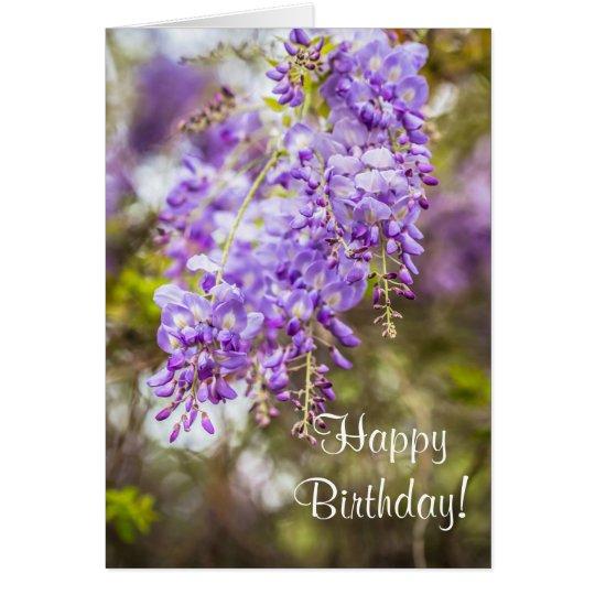 Tarjeta de felicitación del feliz cumpleaños de la