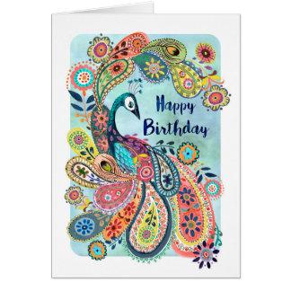 Tarjeta de felicitación del feliz cumpleaños el |