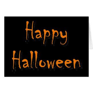 Tarjeta de felicitación del feliz Halloween