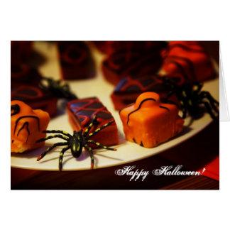 Tarjeta de felicitación del feliz Halloween de las