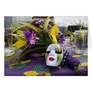 Tarjeta de felicitación del fiesta del carnaval