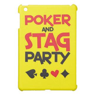 Tarjeta de felicitación del fiesta del póker y de