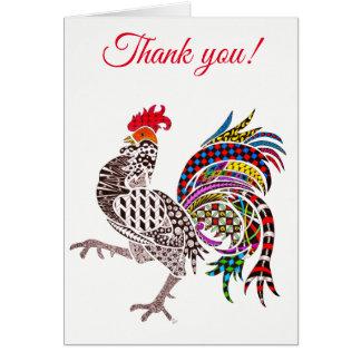 Tarjeta de felicitación del gallo (usted puede