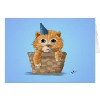 Tarjeta de felicitación del gatito del cumpleaños