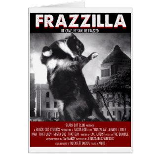 Tarjeta de felicitación del gato de Godzilla