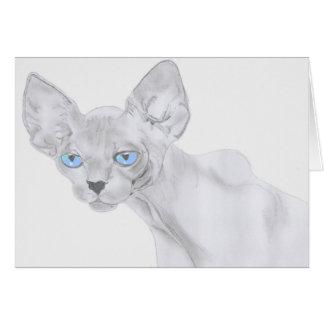 Tarjeta de felicitación del gato de Sphynx