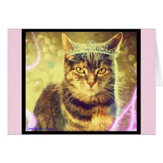 Tarjeta de felicitación del gato de Tabby de
