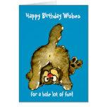 Tarjeta de felicitación del gato del feliz cumplea