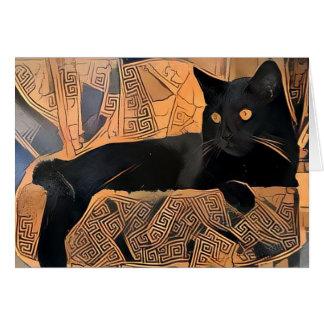 Tarjeta de felicitación del gato negro, Griego