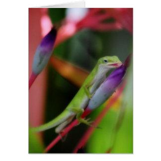 Tarjeta de felicitación del Gecko