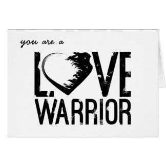 Tarjeta de felicitación del guerrero del amor