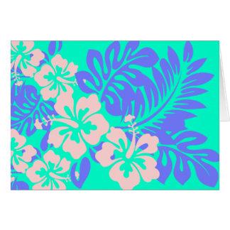 Tarjeta de felicitación del hibisco de la hawaiana
