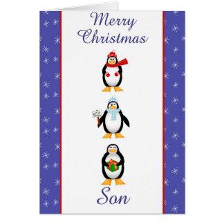 Tarjeta de felicitación del hijo de Navidad