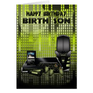 tarjeta de felicitación del hijo del nacimiento el
