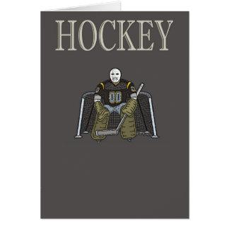 Tarjeta de felicitación del hockey