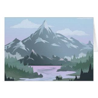 Tarjeta de felicitación del hogar del Mountain