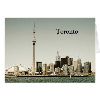 Tarjeta de felicitación del horizonte de Toronto