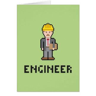 Tarjeta de felicitación del ingeniero del pixel