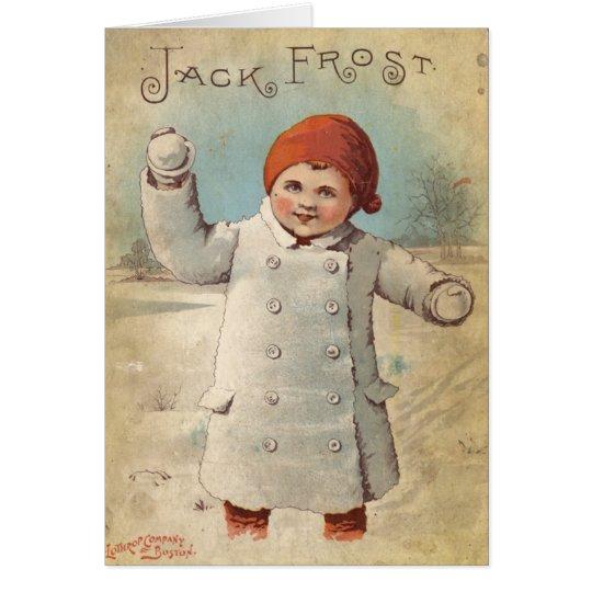 Tarjeta de felicitación del invierno de Jack Frost