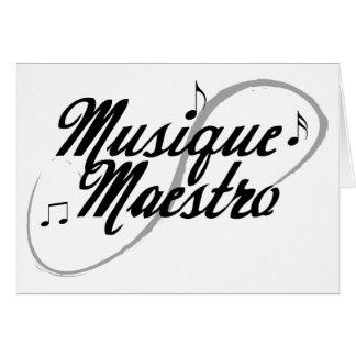 Tarjeta de felicitación del maestro de la música t