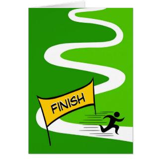 Tarjeta de felicitación del maratón de la