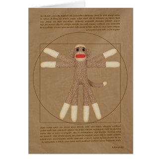 Tarjeta de felicitación del mono de Vitruvian