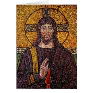 Tarjeta de felicitación del mosaico de Jesús