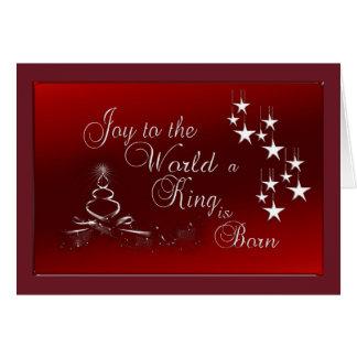 Tarjeta de felicitación del navidad/alegría al