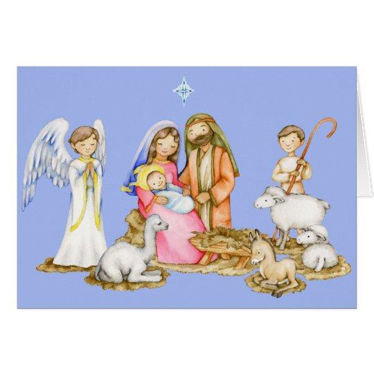 Tarjeta de felicitación del navidad de la