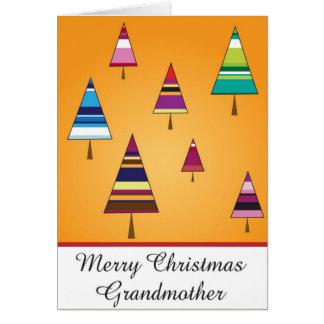 tarjeta de felicitación del navidad de la abuela