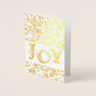 Tarjeta Con Relieve Metalizado Tarjeta de felicitación del navidad de la ALEGRÍA