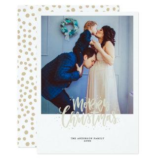 Tarjeta de felicitación del navidad de la foto de