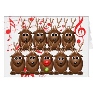 Tarjeta de felicitación del navidad de la foto del