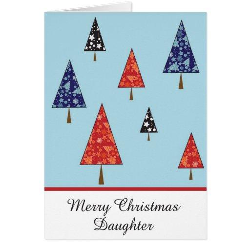 Tarjeta de felicitación del navidad de la hija
