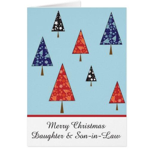 Tarjeta de felicitación del navidad de la hija y d
