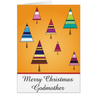 tarjeta de felicitación del navidad de la madrina