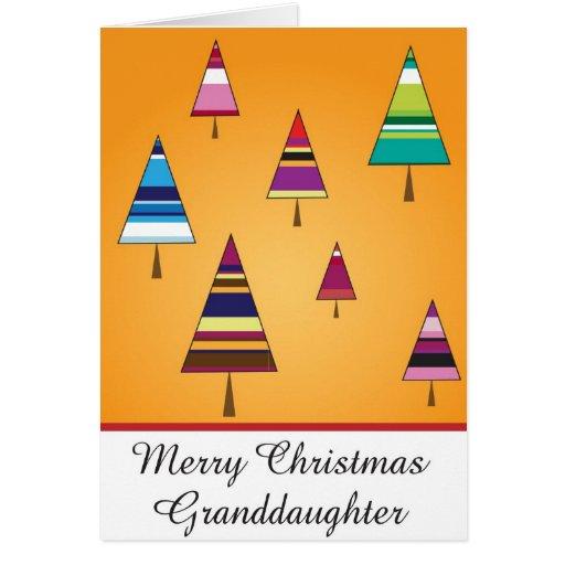 tarjeta de felicitación del navidad de la nieta