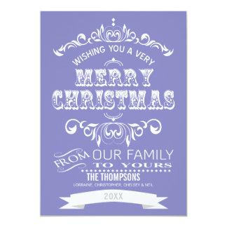 Tarjeta de felicitación del navidad de la pizarra invitación 12,7 x 17,8 cm